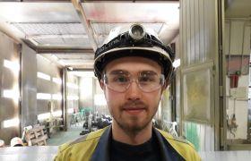 Daniel Bakkan på Herøya Industripark.