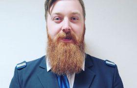 Anders Junior Gundersen i uniform.