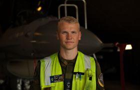 Crew Chief-assistent Martin Fossum.