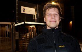 Fengselsbetjent Håkon Sætervik utenfor Bodø fengsel