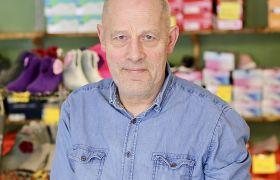 Portrett av skoproduksjonsarbeidar Sigmund Steinberg
