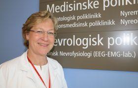Nevrolog Hanne Flinstad Harbo på Rikshospitalet i Oslo