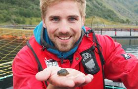 Fiskehelsebiolog Mattias Bendiksen Lind