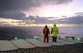 Brønnoperatør jobber offshore