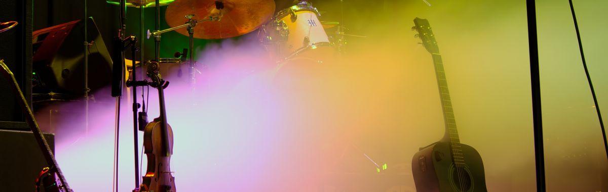 Instrumenter på en scene