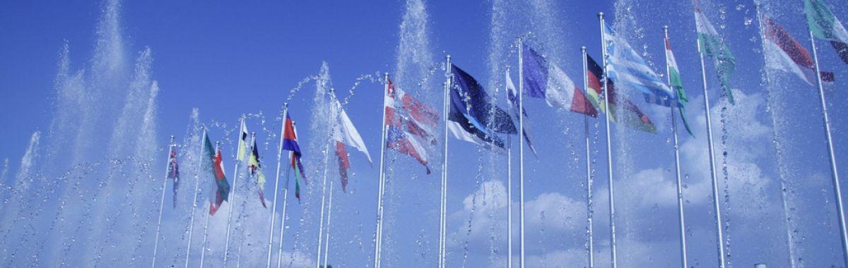 Flagg frå ulike land.