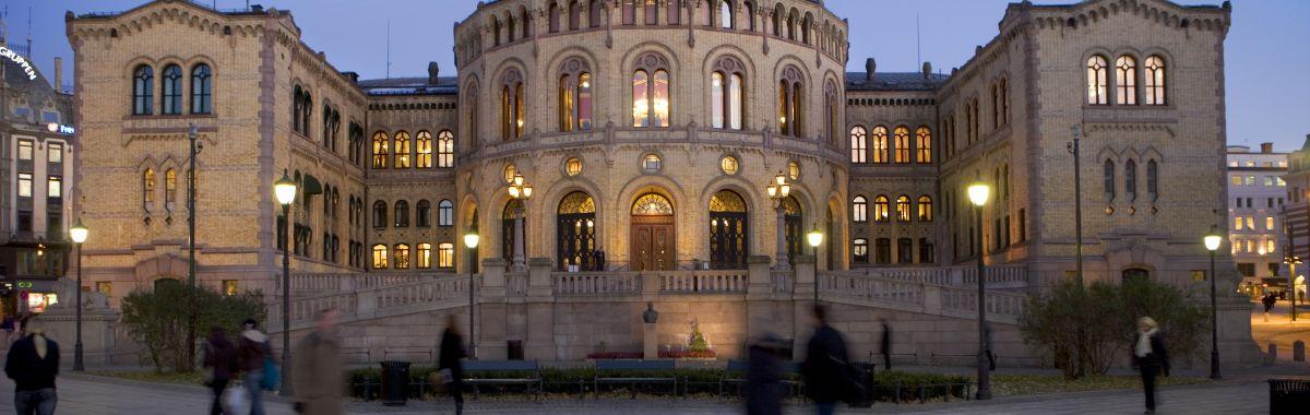 Illustrasjonsbilde av Stortinget i Oslo.