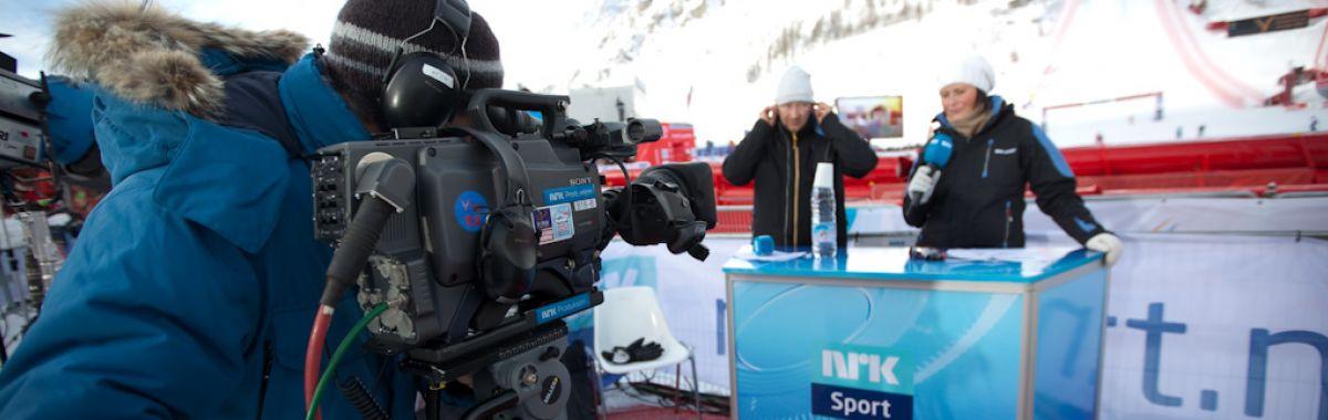 TV-fotograf filmer sportssending